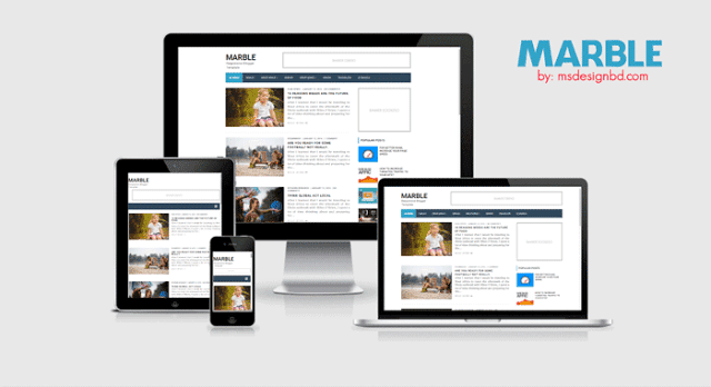Marble - Responsive Blogger Template