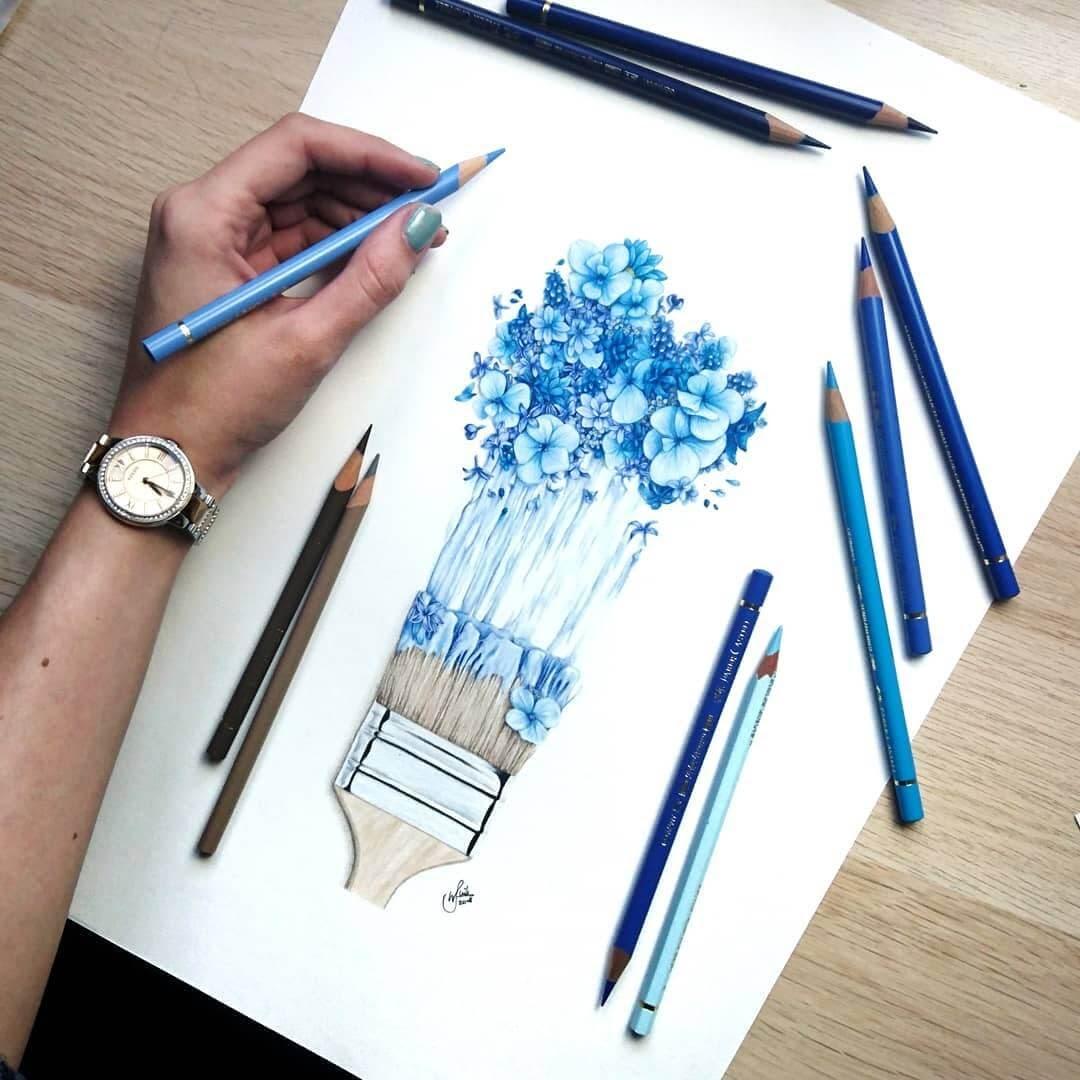 10-Paintbrush-Flowers-J-Wuiz-Animals-and-Food-Art-Pencil-Drawings-www-designstack-co