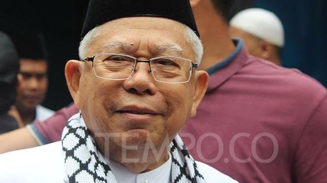 Maruf Amin Sebut Prabowo-Sandi Merasa Mulai Terancam
