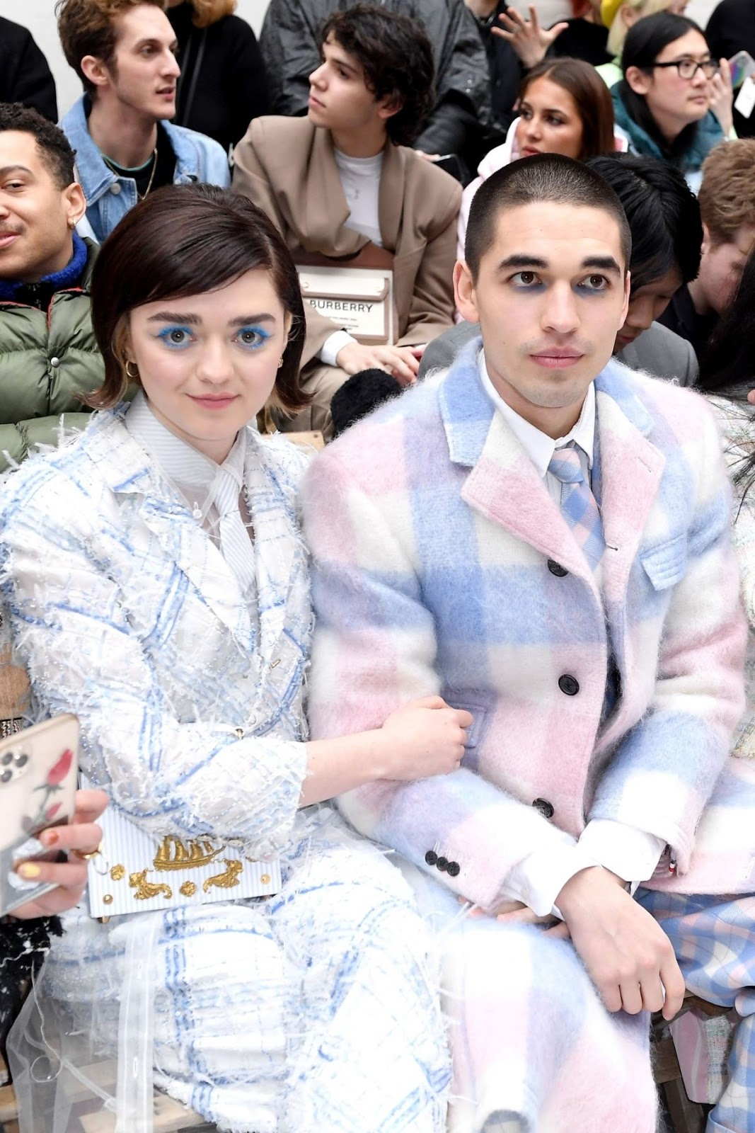Maisie Williams cosies up to boyfriend at the Thom Browne Paris Fashion Week Show