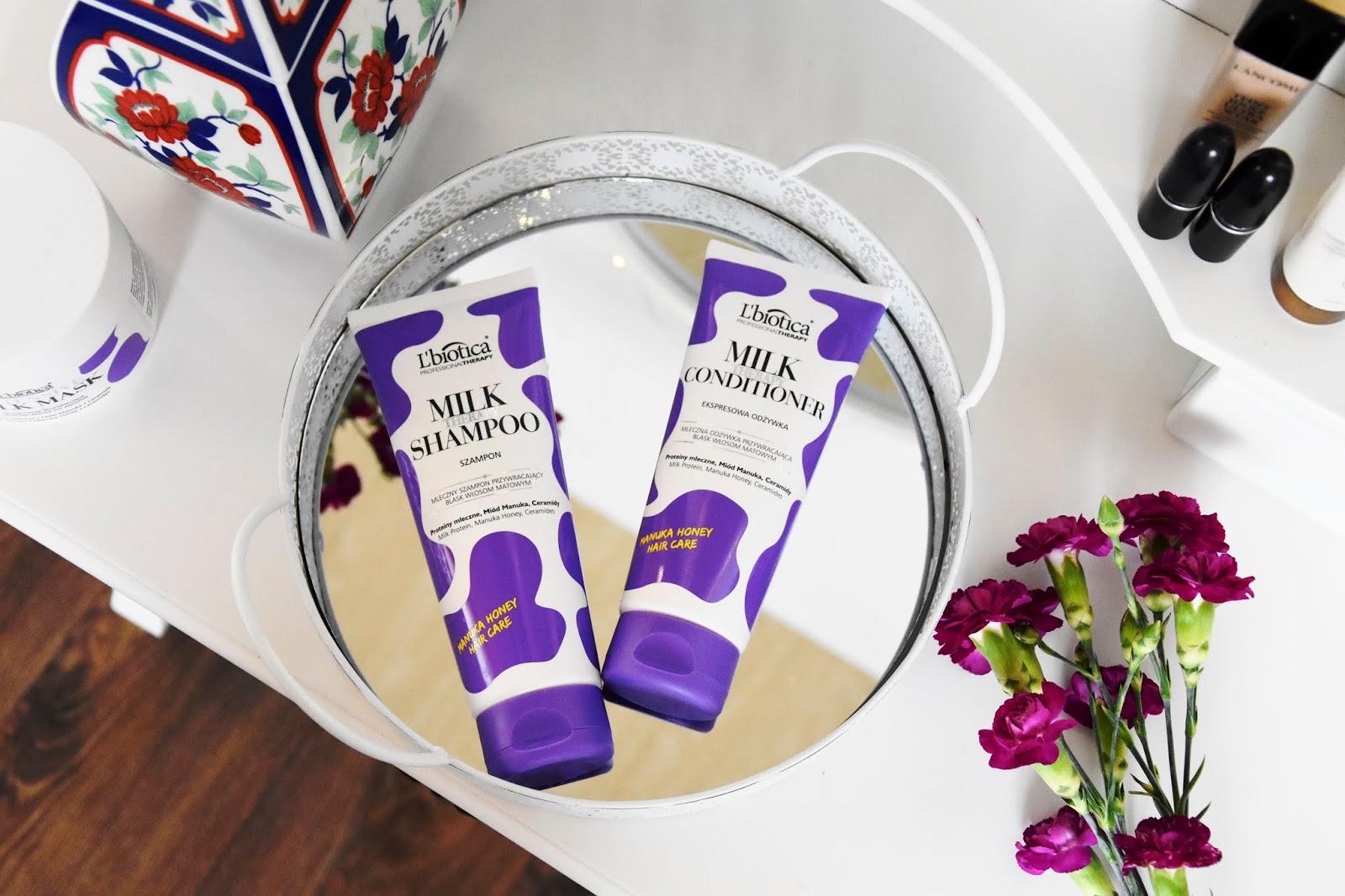 l'biotica milk therapy szampon maska odżywka