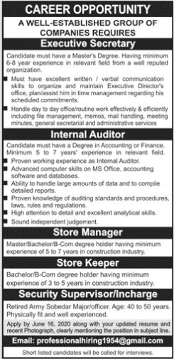 Well Established Group of Companies Jobs