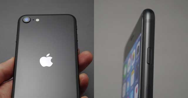 iPhoneSE2020背面と側面