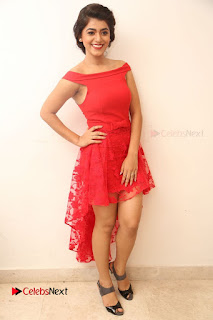 Actress Yamini Bhaskar Latest Pictures in Red Dress at 100 Days of Love Movie Audio Launch  0161