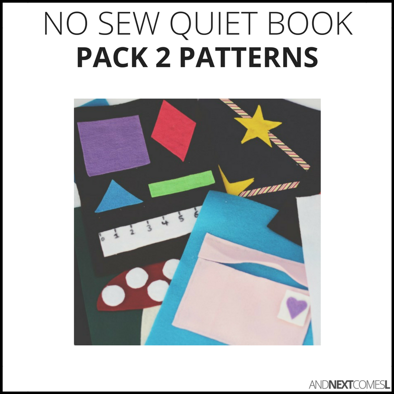 10 easy no sew quiet book patterns from And Next Comes L