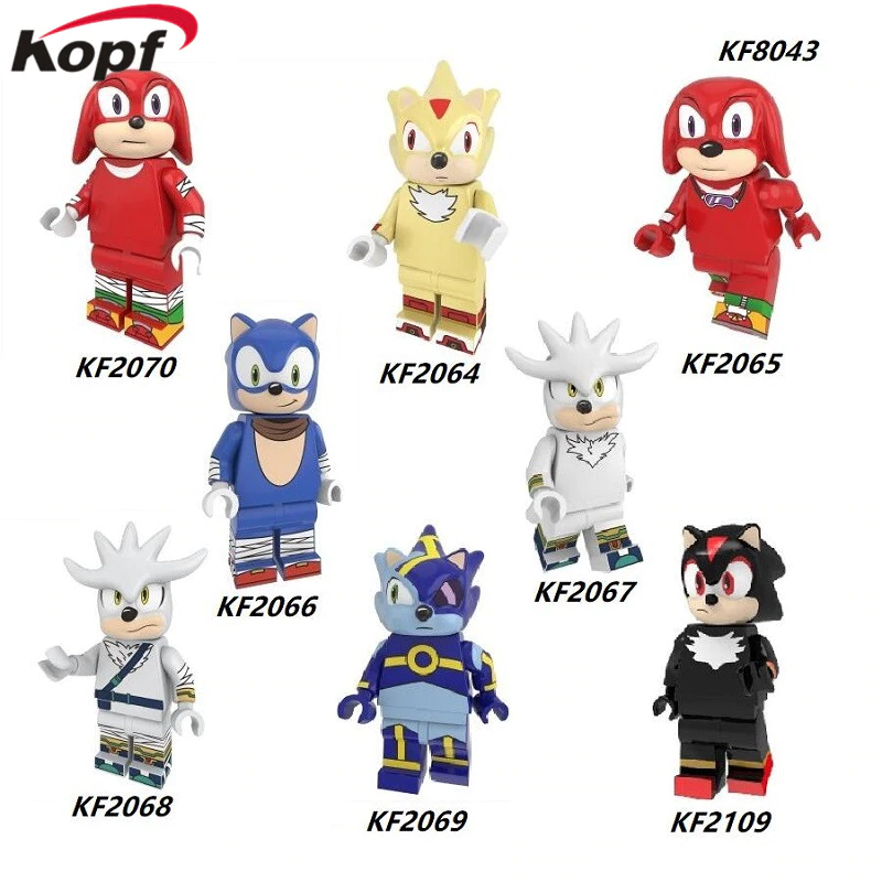 Toys Hobbies The Hedgehog Minifigure Sonic Shadow Knuckles Super Sonic Lego Moc Minifigures Building Toys Minifigures Themadrasflyingclub Org