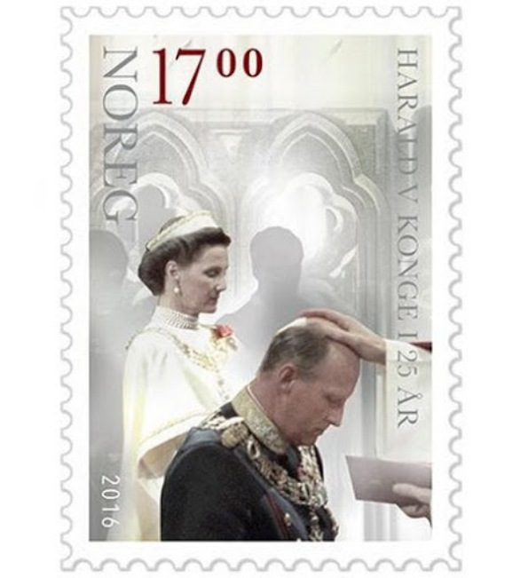 Stamp On The Occasion Of The 25th Anniversary Of The Reign Of King Harald Of Norway