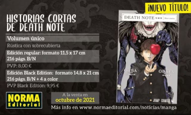 Death Note Historias Cortas será lanzado por Norma Editorial.