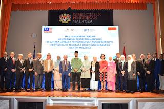 Malaysia-NTB Bangun Kerjasama, Tahun Ini NTB Kirim 152 Mahasiswa