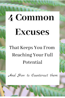 4 Common Excuses That Keep You From Your Reaching Your Potential-Look at some of the excuses Moses gave to God and how we can give those same excuses to keep us in our comfort zone.  Moses' excuses teach us so much about God's personality and his sovereignty.  Stop making excuses and let these Bible verse give you the courage you need to reach your full potential. #stopmakingexcuses #reachyourfullpotential