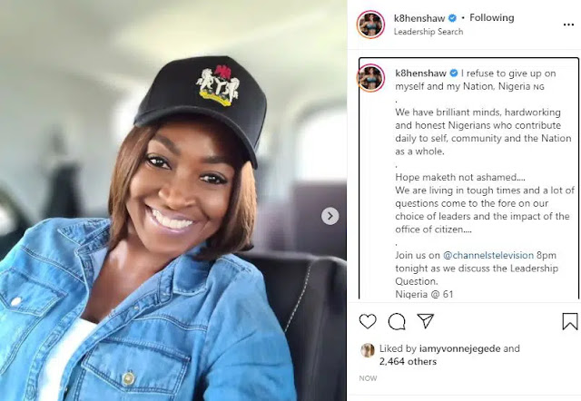Nigeria Independence: I refused to give up on myself and my nation- Actress Kate Henshaw