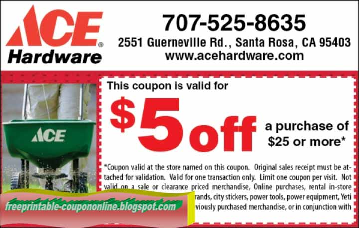 picture relating to Ace Hardware Printable Coupons known as Ace components discount codes printable april 2018 - Nuts horse