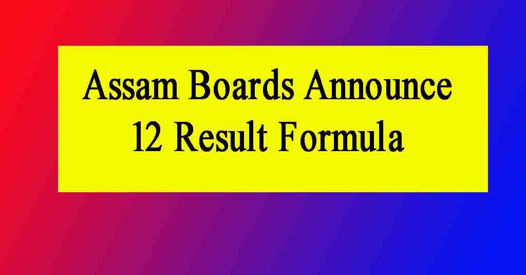 Assam 12th Result 2021 Evaluation