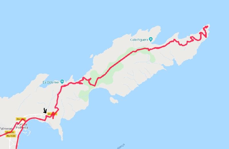 Strada verso Cap de Formentor