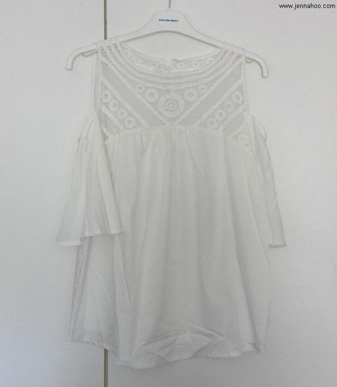 SheIn White Off-Shoulder Shirt