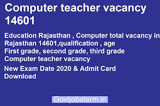 Computer teacher vacancy