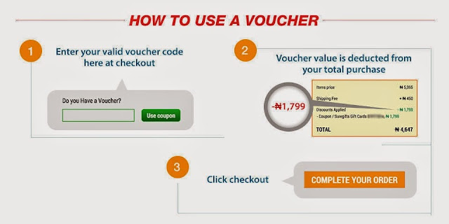 How to use jumia voucher