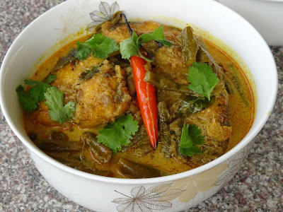 Yardlong beans &fish curry