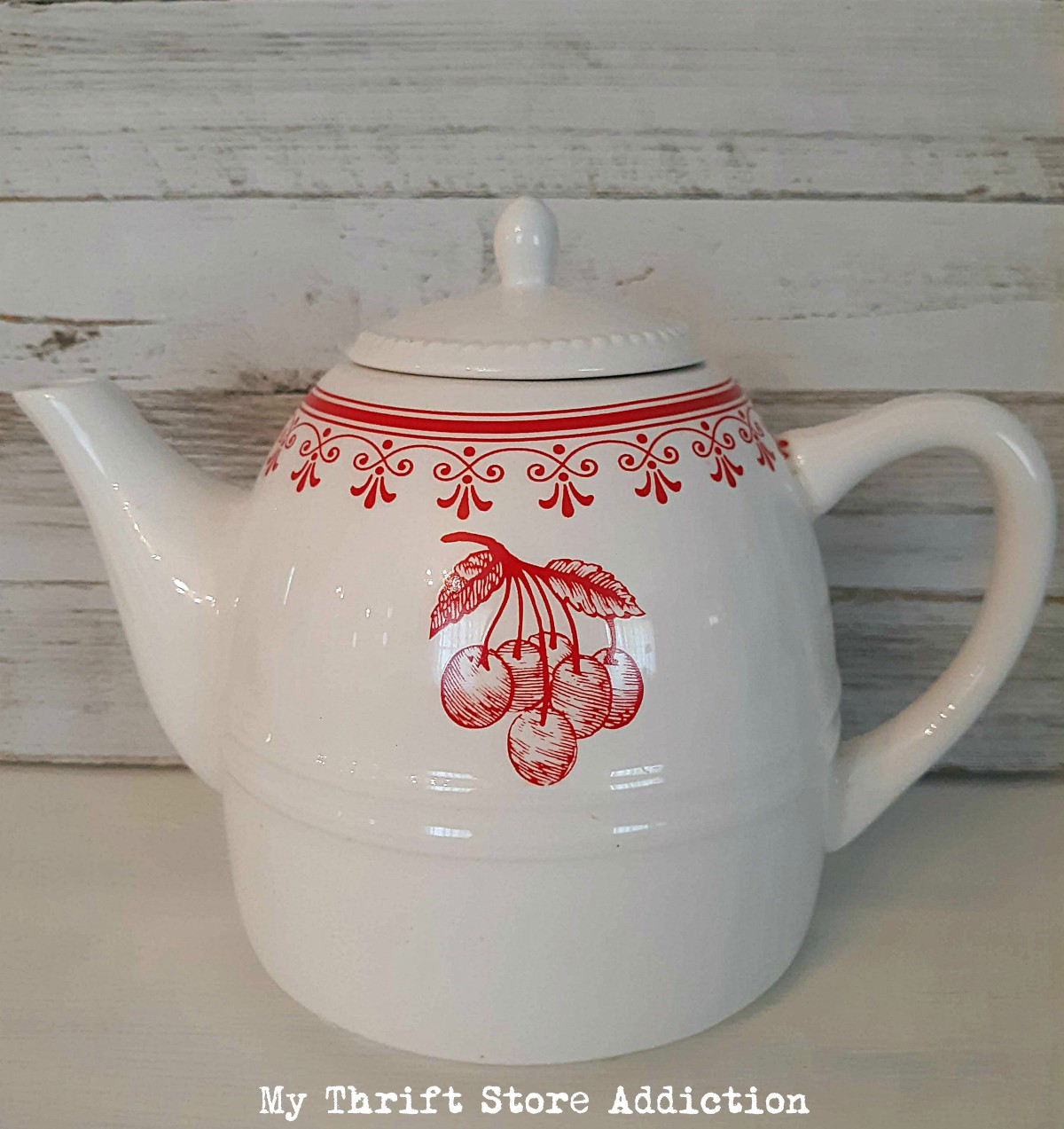 vintage cherry teapot