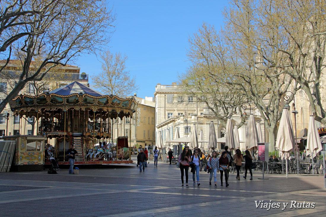Plaza del reloj, Avignon