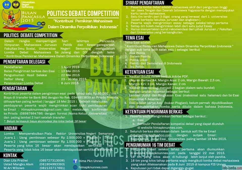 Politics Debate Competition