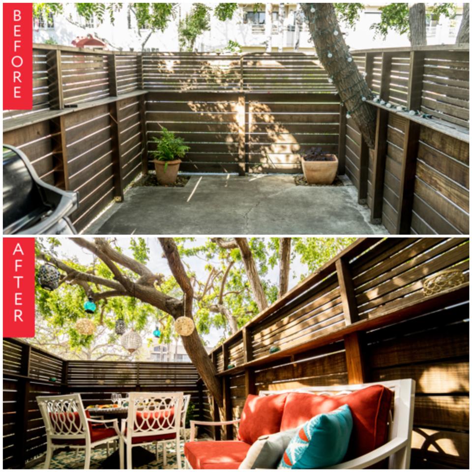 Deco: avant & après sur deux terrasses