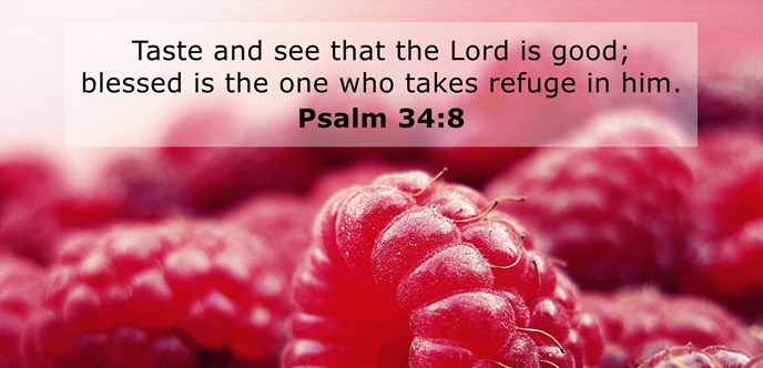 Taste and see that the Lord is good; blessed is the one who takes refuge in him.