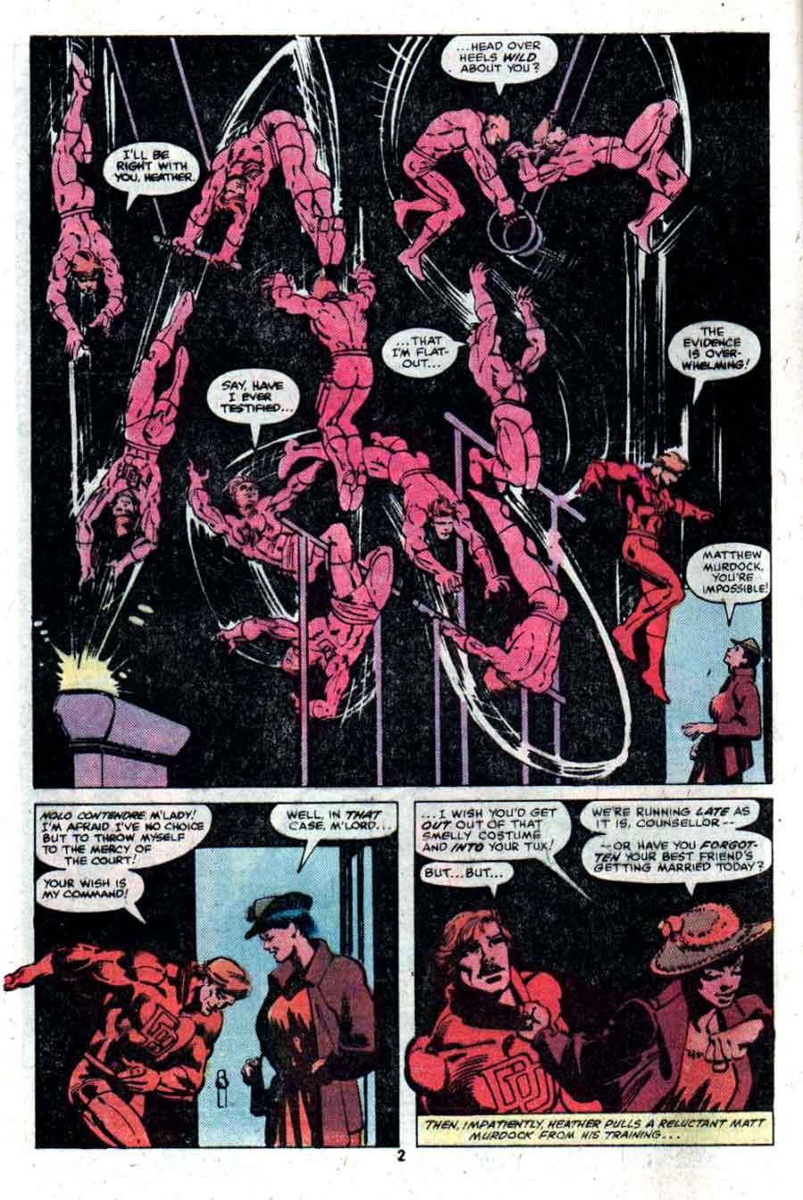 Daredevil v1 #166 marvel comic book page art by Frank Miller