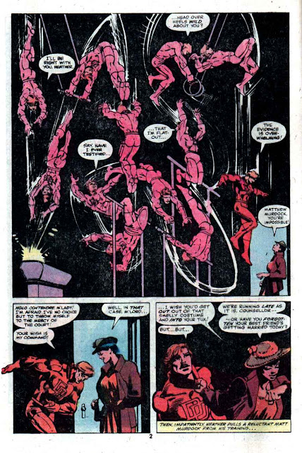 Daredevil v1 #166 marvel comic book page art by Frank Miller