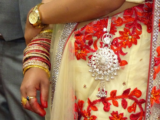 Bangles and belt decoration worn by Nepalese woman
