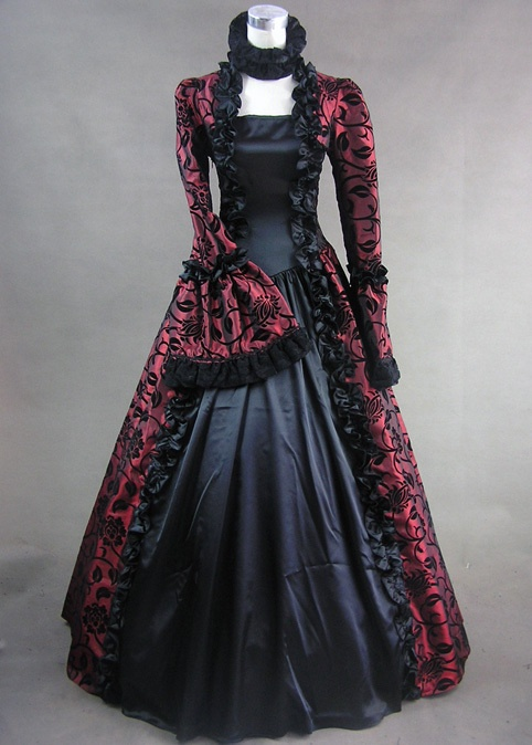 DevilInspired Gothic Victorian Dresses: Classic Silhouette