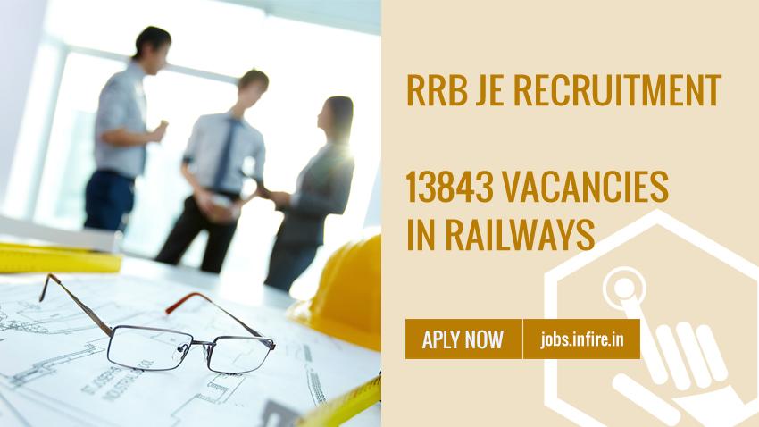 RRB JE Recruitment 2019 (13843 Vacancies in Railways) Apply Online
