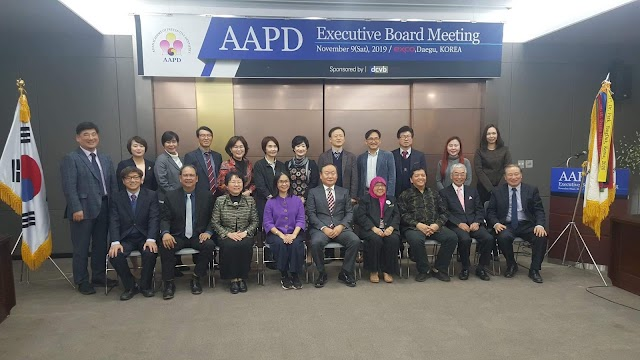 Dean Magtanong and Comm Dent Chair Dr. J. Rebueno Attend the AAPD Executive Meeting in Korea