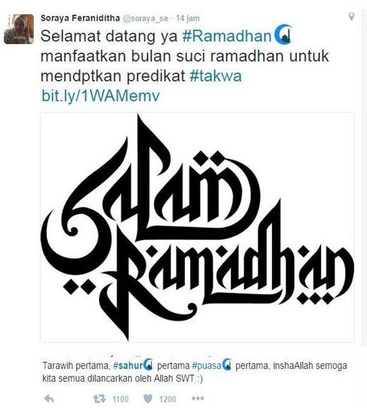 hashtag ramadhan di twitter dan emoticons symbols