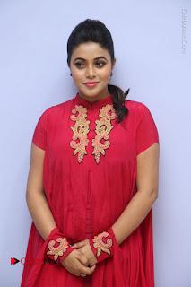 Actress Poorna Latest Stills in Red Dress at Rakshasi First Look Launch  0064.JPG