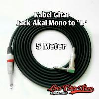 Kabel gitar 5 meter jack akai mono to akai mono ' L '