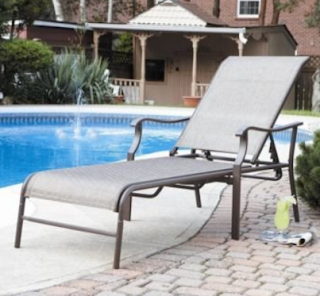 Adjustable Outdoor Patio Oversized Chaise Lounger with Arm Supports