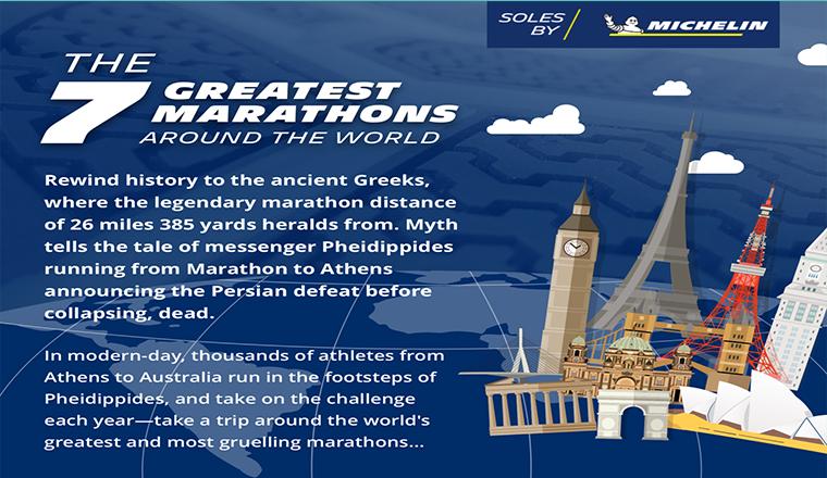 7 Great Marathons From Around the World #infographic
