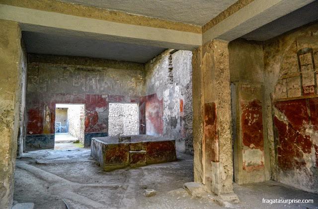 Fullonica em Pompeia, oficina de beneficiamento de lã
