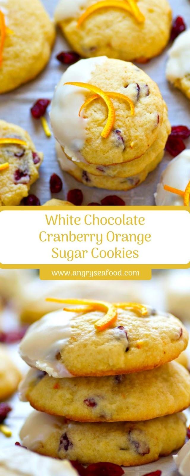 White Chocolate Cranberry Orange Sugar Cookies