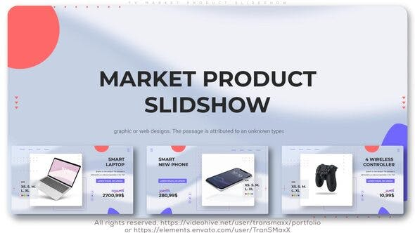 VIDEOHIVE TV MARKET PRODUCT SLIDESHOW