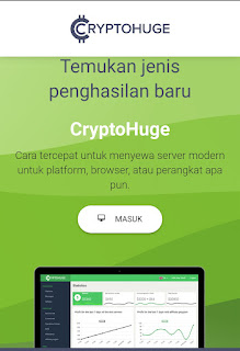 cryptohuge login dan mulai menambang bitcoin