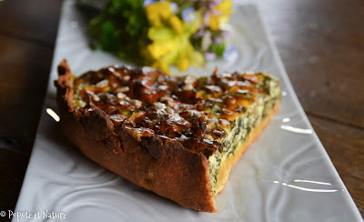 Tarte aux épinards et à la ricotta à la farine d'épeautre et de lupin © Popote et Nature