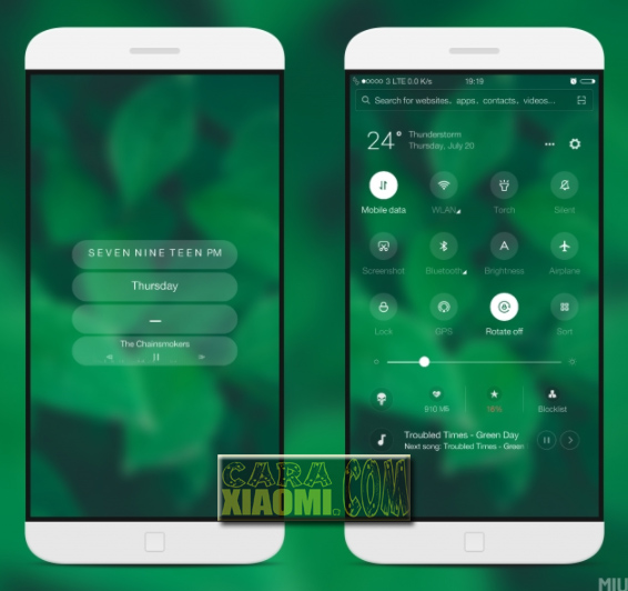 Link Download MIUI Theme Greenest Update V3.0 Mtz For Xiaomi: