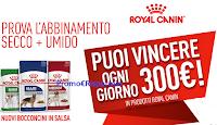 Logo ''Royal Canin Bocconcini Vincenti'': vinci 45 carnet di buoni sconto da 300€
