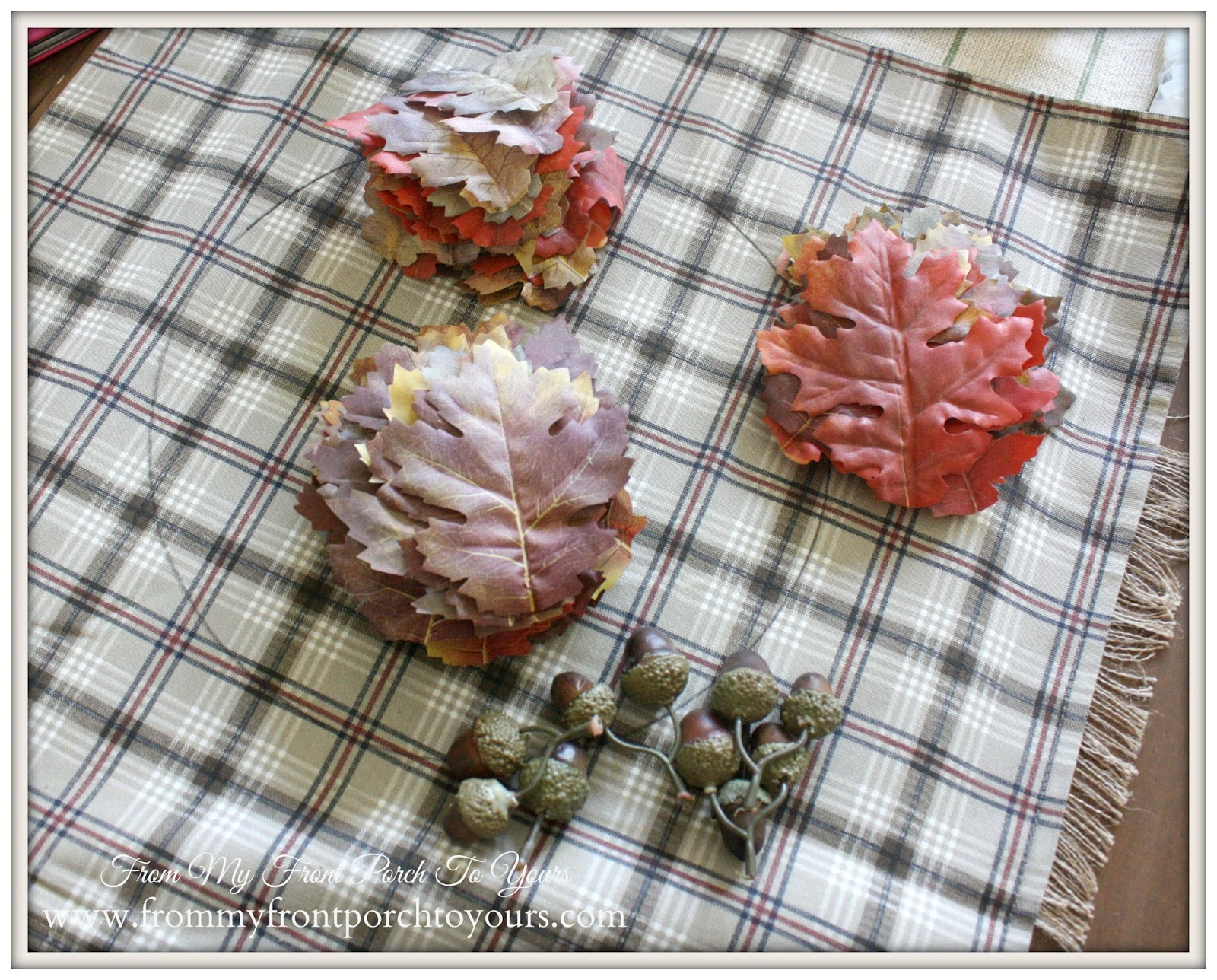 No Sew Fall Leaf Pillow Tutorial Ikea Pillow Cover From My Front Porch To Yours