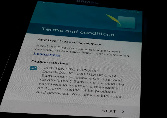 Accept Samsung License Agreement