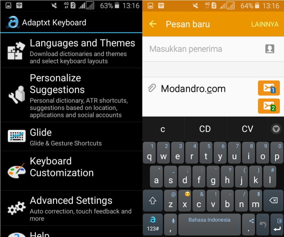 aplikasi keyboard terbaik adaptxt