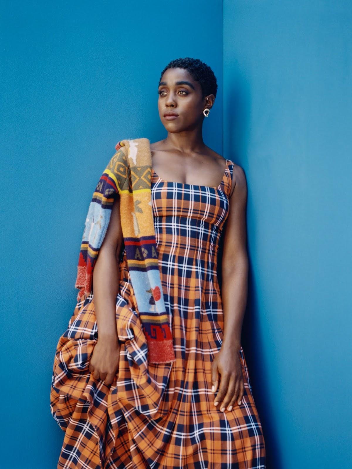 SMILE: Lashana Lynch in Porter Edit 4th October 2021 by Kennedi Carter