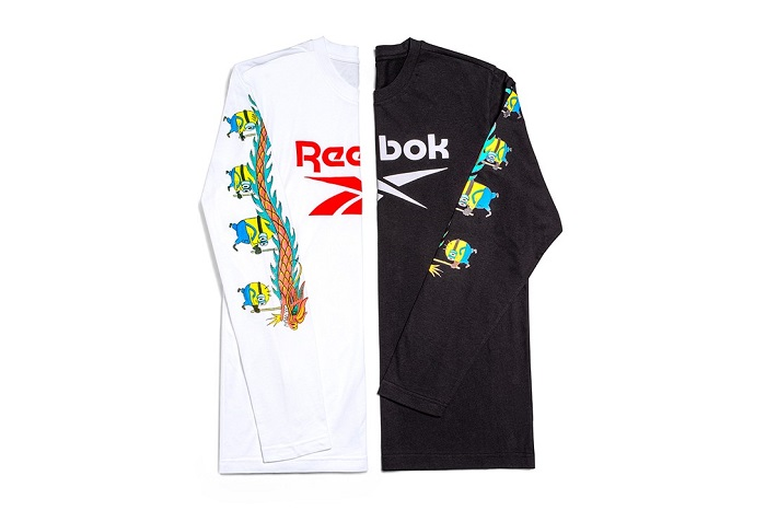 Minions Reebok T-Shirt Long Sleeve Black White